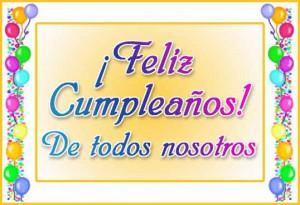 Para felicitar un cumpleaños