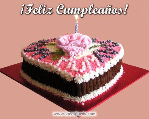 Imagenes lindas con pastel de cumpleaños, variadas