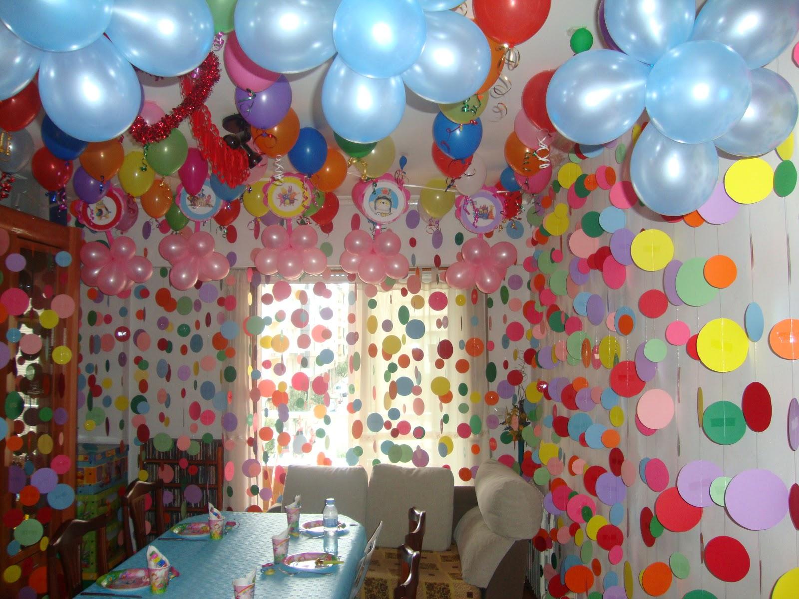 Cumpleaños de niña en casa, imagenes