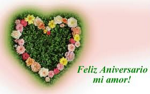 Aniversario de amor corazon