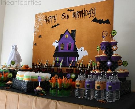 Cumpleaños de halloween decoración
