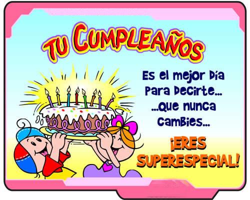 Cumpleaños para una amiga especial.