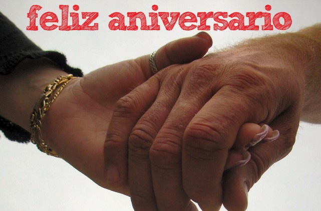Feliz aniversario de boda