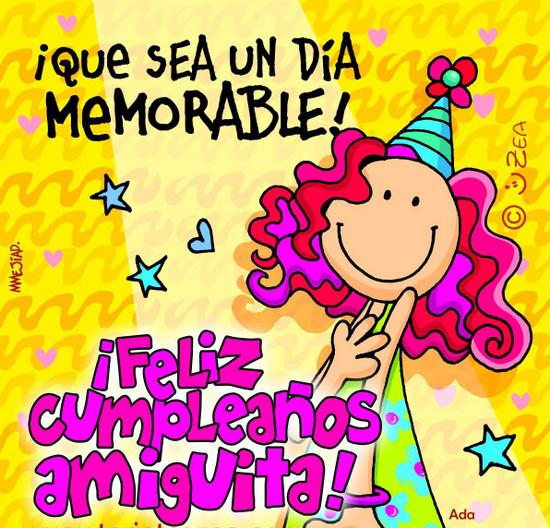 Feliz cumpleaños amiga facebook