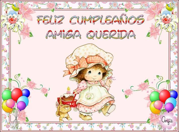 Feliz cumpleaños amiga te quiero mucho
