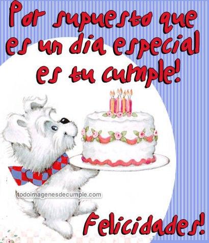 Imagen de felicitaciones de cumpleaños, animadas
