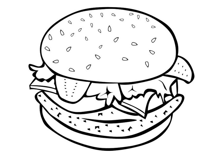 Imagenes para colorear hamburguesa