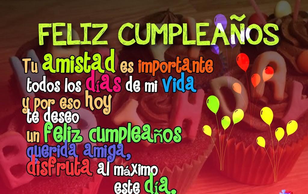 Mensajes cumpleaños para una amiga muy especial