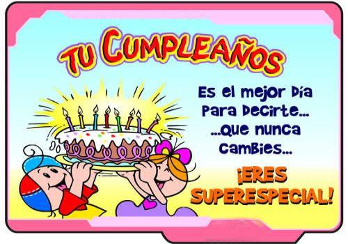 Mensajes por cumpleaños feliz