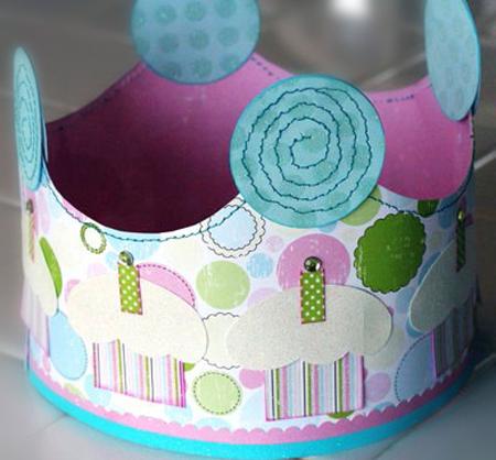 Pasos para hacer una corona de cumpleaños, fotos