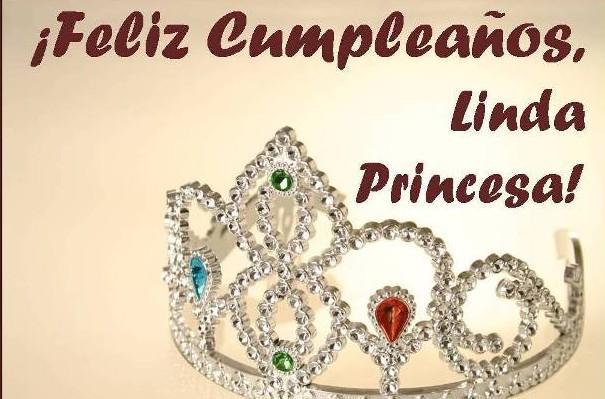 Postal cumpleaños feliz princesa