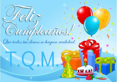 Saludos de cumpleaños con globos