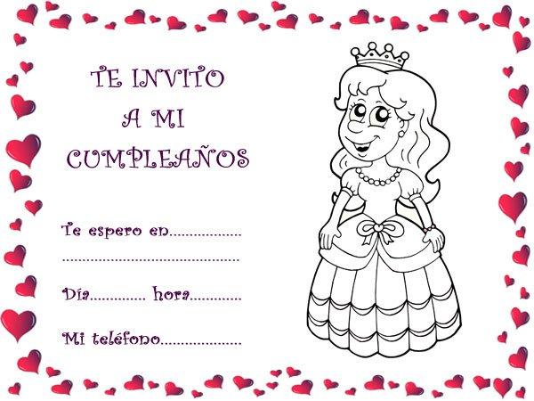 Tarjeta de cumple invitacion