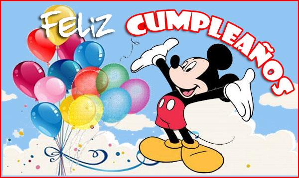 Tarjeta de cumpleaños gratis mickey