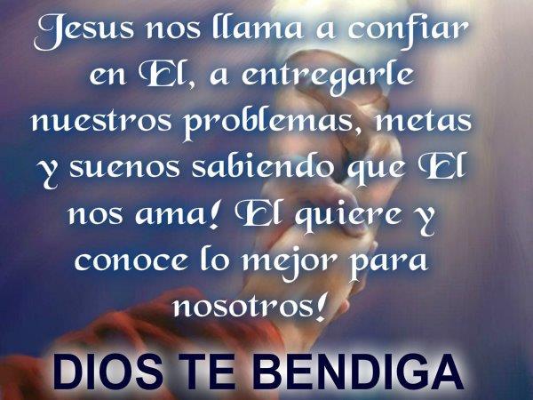 Tarjetas cristianas dios te bendiga
