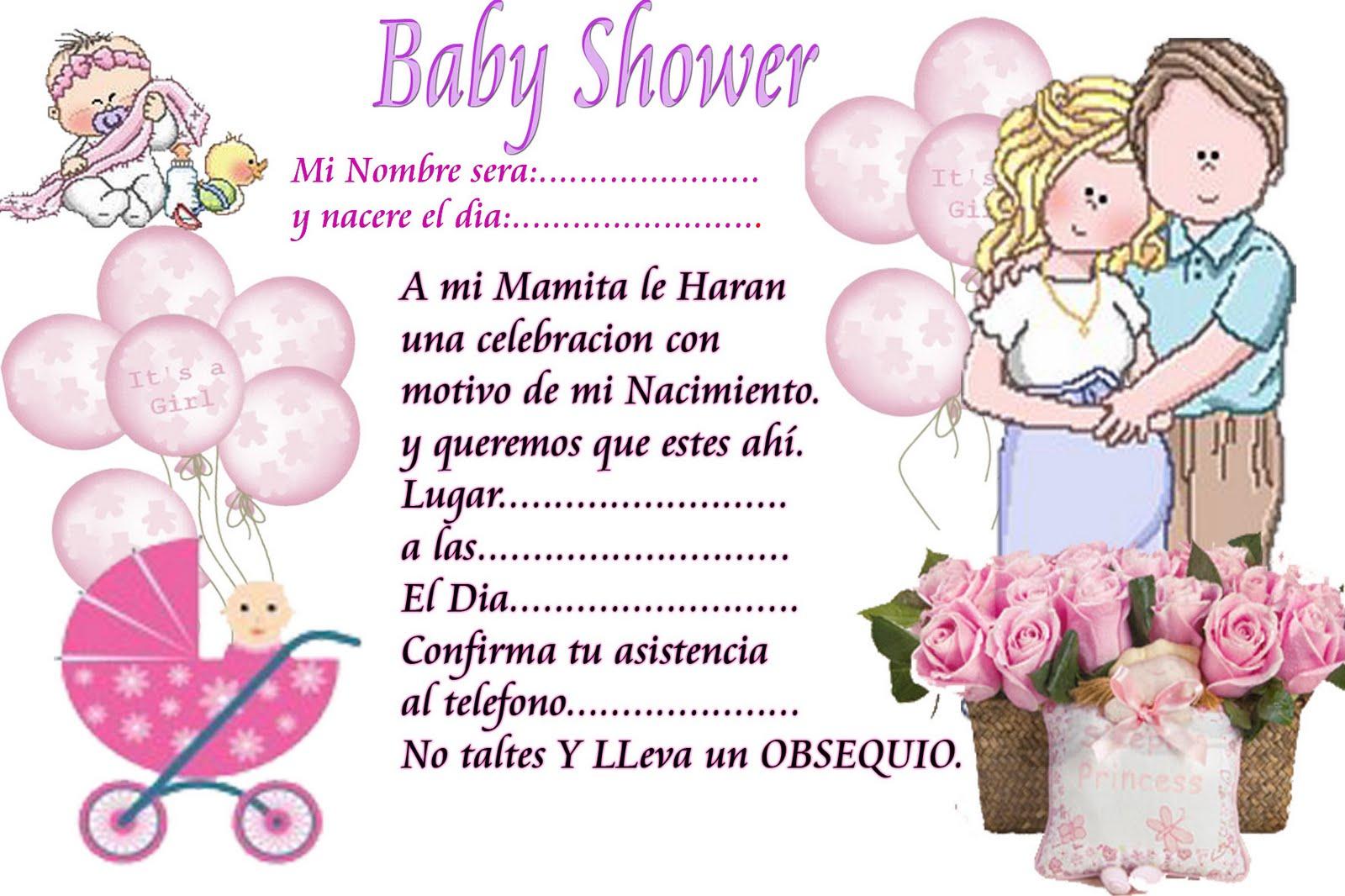 Tarjetas de invitacion baby shower