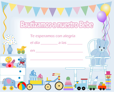 Tarjetas de invitacion bebe