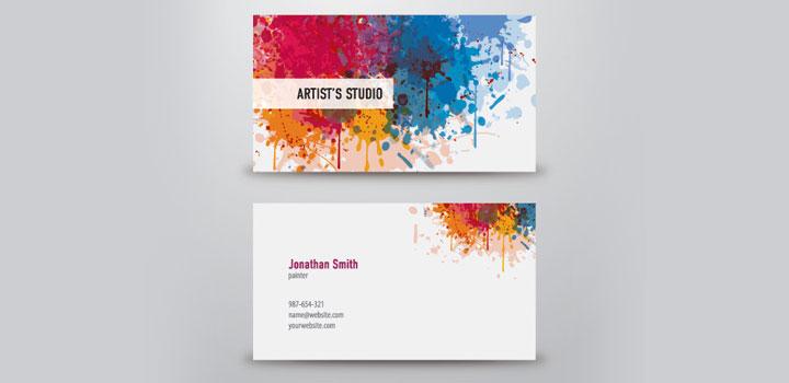 Tarjetas de presentación arte