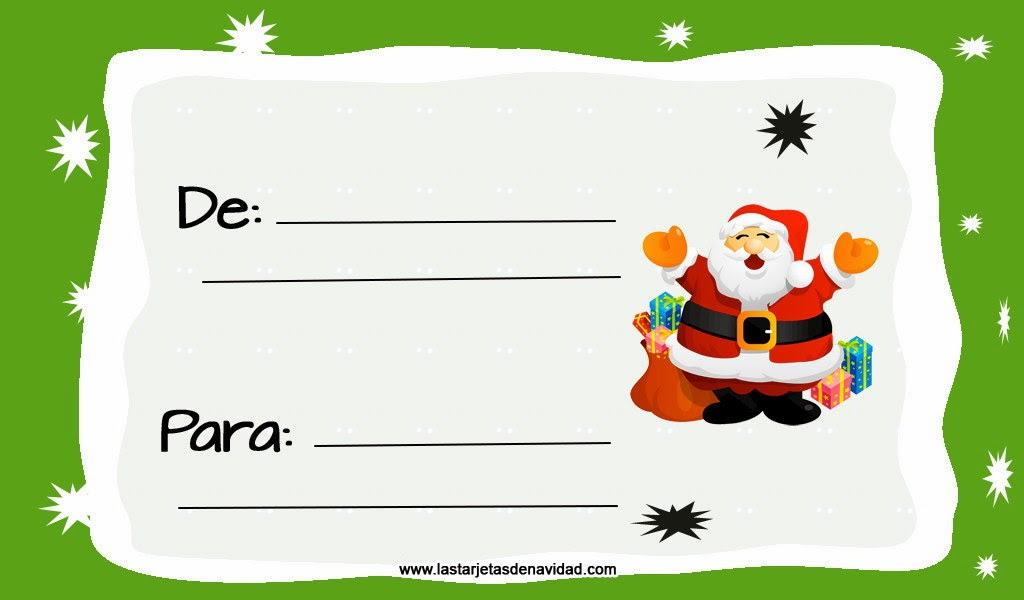 Tarjetas para imprimir navidad